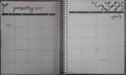 Erin Condren Life Planner Monatsübersicht